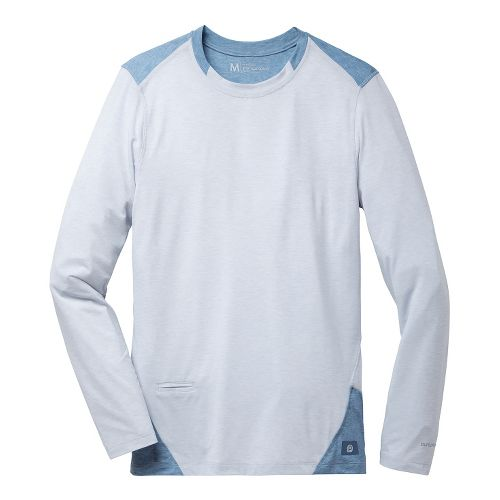 Mens Brooks PureProject Long Sleeve No Zip Technical Tops - Sterling/Storm XL