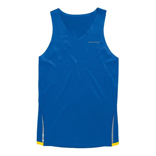 Mens Brooks Infiniti Singlets Technical Tops - Electric/Taxi S