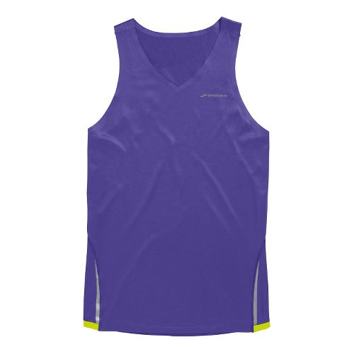Mens Brooks Infiniti Singlets Technical Tops - Prince/Nightlife XL