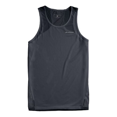 Mens Brooks Rev III Singlets Technical Tops - Asphalt XS