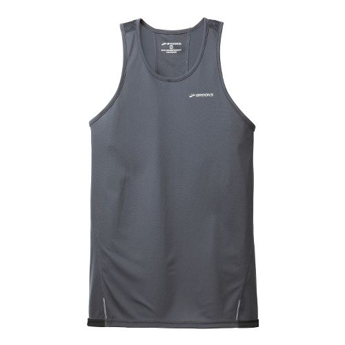Mens Brooks Rev III Singlets Technical Tops - Anthracite L
