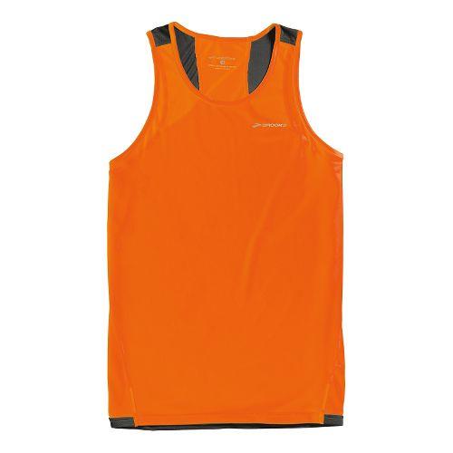 Mens Brooks Rev III Singlets Technical Tops - Brite Orange/Anthracite XXL