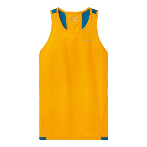 Mens Brooks Rev III Singlets Technical Tops - Mango/Baltic M