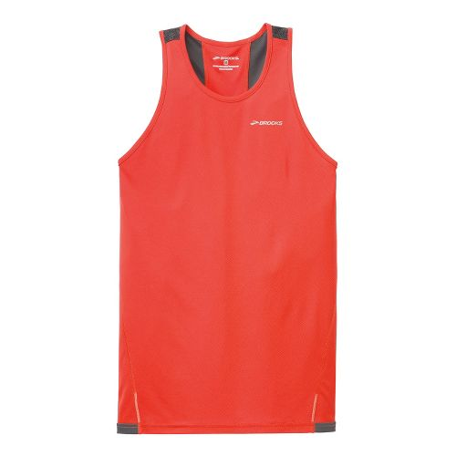 Mens Brooks Rev III Singlets Technical Tops - Mars/Anthracite XL