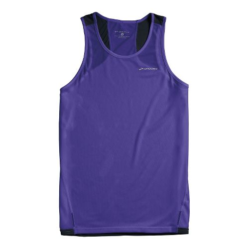 Mens Brooks Rev III Singlets Technical Tops - Prince/Black XS