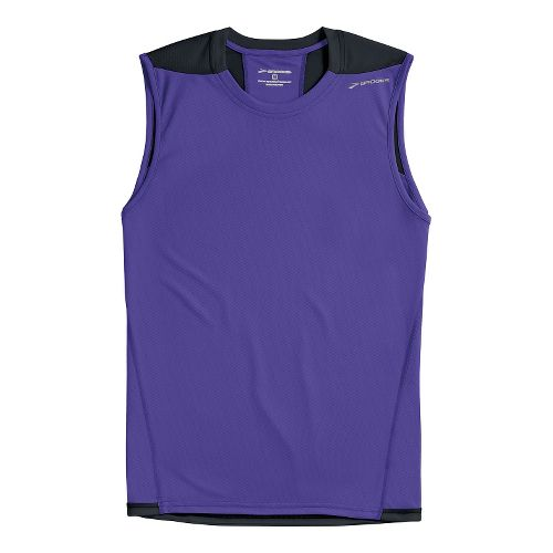 Mens Brooks REV III Sleeveless Technical Tops - Prince/Black M