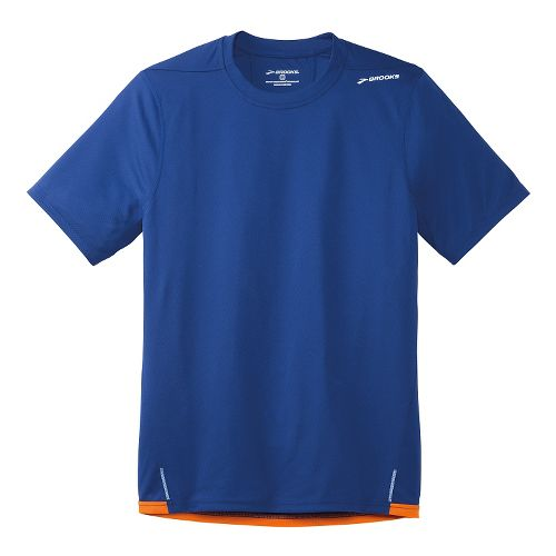 Mens Brooks Rev SS III Short Sleeve Technical Top - Indigo M