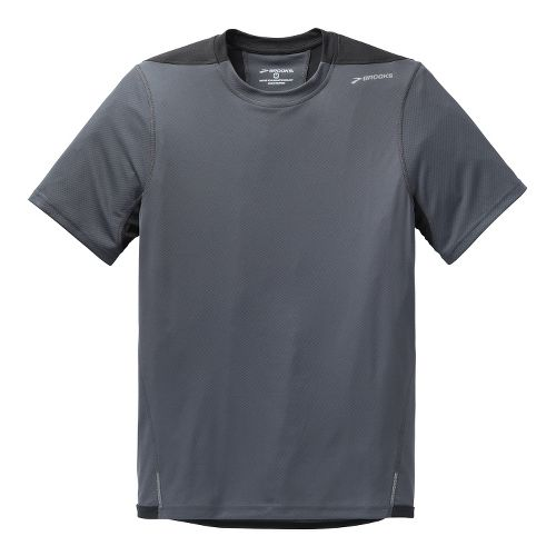 Mens Brooks Rev SS III Short Sleeve Technical Top - Anthracite/Black L