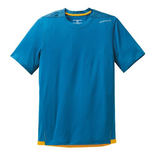 Mens Brooks Rev III Short Sleeve Technical Tops - Baltic S