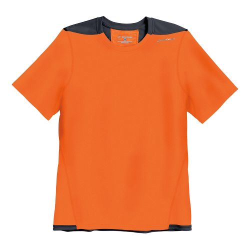 Mens Brooks Rev III Short Sleeve Technical Tops - Brite Orange/Anthracite L
