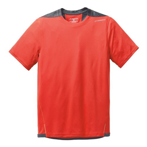 Mens Brooks Rev III Short Sleeve Technical Tops - Mars/Anthracite M