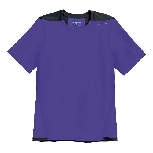 Mens Brooks Rev SS III Short Sleeve Technical Top - Prince/Black XS