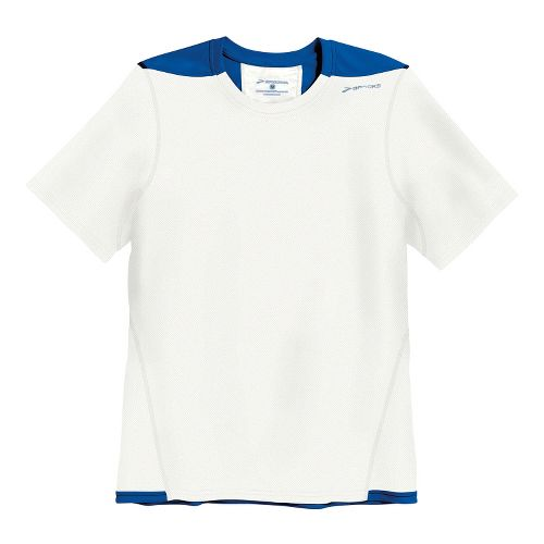 Mens Brooks Rev SS III Short Sleeve Technical Top - White/Electric XXL