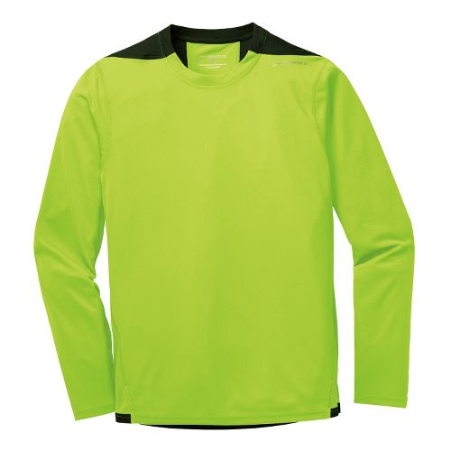 Mens Brooks Rev III Long Sleeve No Zip Technical Tops - Nightlife L