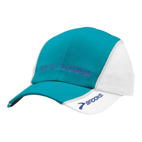 Brooks HVAC Run Happy Hat II Headwear - Caribbean