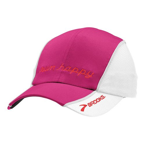Brooks HVAC Run Happy Hat II Headwear - Fuchsia