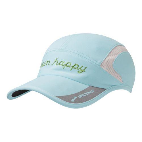 Brooks HVAC Run Happy Hat II Headwear - Heather Sea Breeze