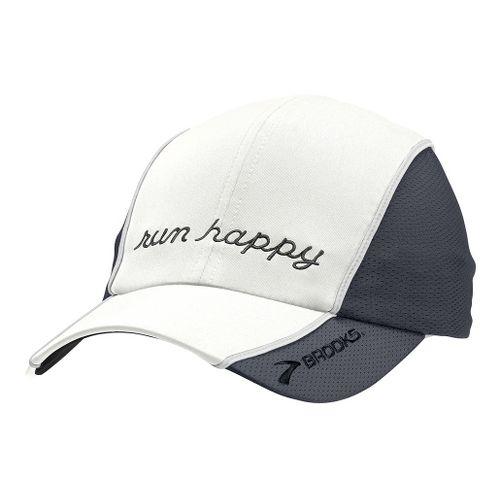 Brooks HVAC Run Happy Hat II Headwear - White