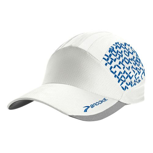 Brooks Printed Mesh Hat Headwear - White/Electric Digi Print