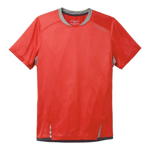 Mens Brooks Infiniti Short Sleeve Technical Tops - Mars/Concrete S