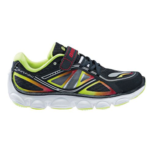 Kids Brooks Kids PureFlow 3 - Toddler Running Shoe - Black/Blazing Yellow 11