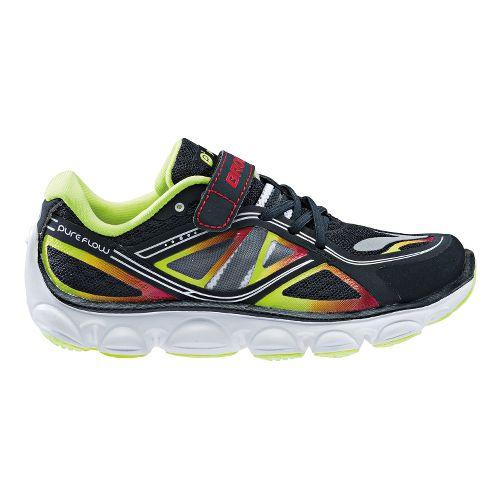 Kids Brooks Kids PureFlow 3 - Toddler Running Shoe - Black/Blazing Yellow 12