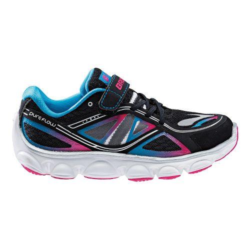 Kids Brooks Kids PureFlow 3 - Toddler Running Shoe - Black/Raspberry 10.5