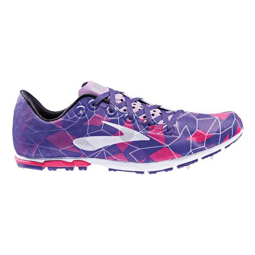 Womens Brooks Mach 16 Cross Country Shoe - Pink/Lavender 7