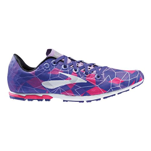 Womens Brooks Mach 16 Spikeless Cross Country Shoe - Pink/Lavender 9