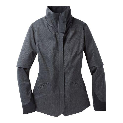Womens Brooks PureProject Shelter Running Jackets - Heather Sea Breeze XL