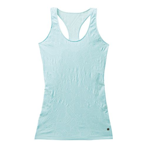 Womens Brooks PureProject Seamless II Tanks Technical Tops - Heather Sea Breeze M