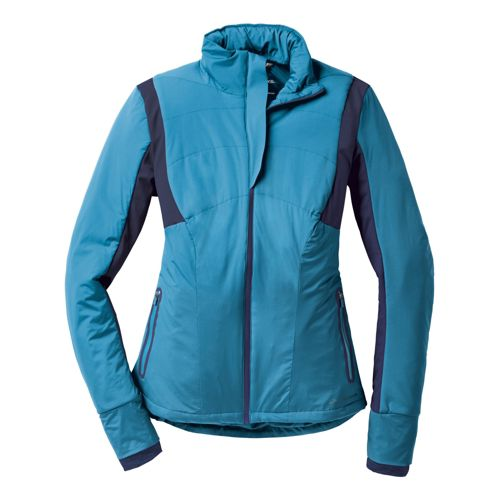 Womens Brooks Adapt Running Jackets - Aurora/Midnight XL