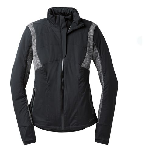Womens Brooks Adapt Running Jackets - Black/Heather Black XL
