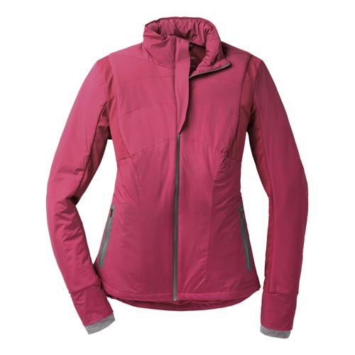 Womens Brooks Adapt Running Jackets - Heather Jam S
