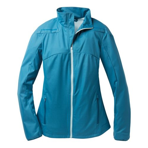Womens Brooks Infiniti IV Running Jackets - Heather Aurora XL