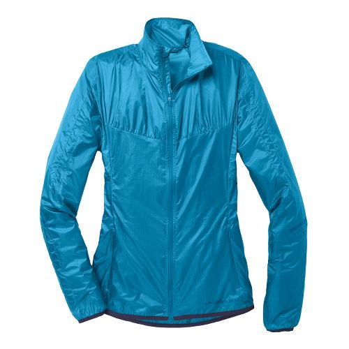 Womens Brooks LSD Lite IV Running Jackets - Heather Aurora M