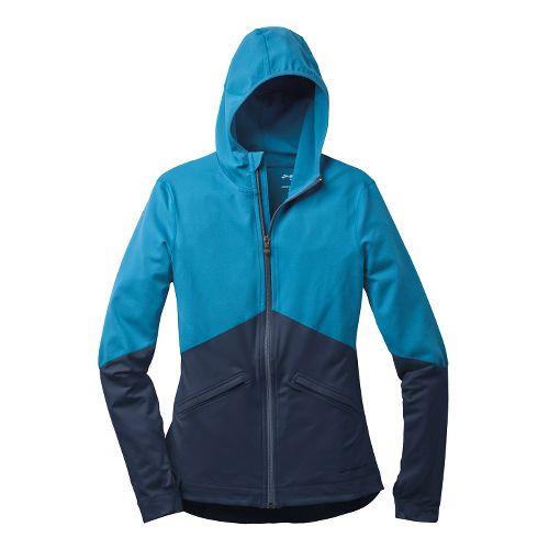 Womens Brooks Utopia Thermal Hoodie III Running Jackets - Aurora/Midnight XL