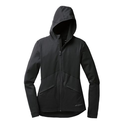 Womens Brooks Utopia Thermal Hoodie III Running Jackets - Black S
