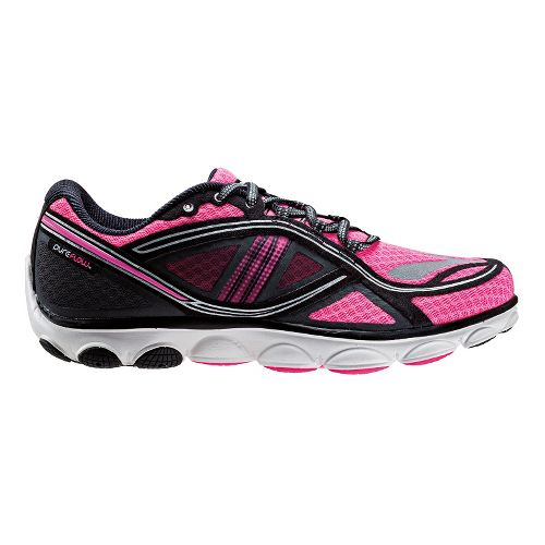 Womens Brooks PureFlow 3 Nightlife Running Shoe - Bright Pink/Black 6.5