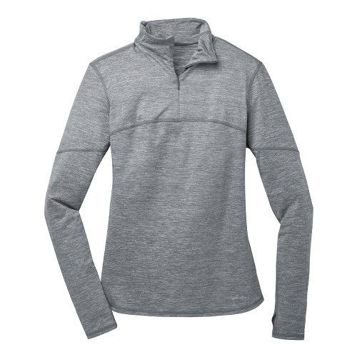 Womens Brooks Essential III Long Sleeve 1/2 Zip Technical Tops - Mako XL