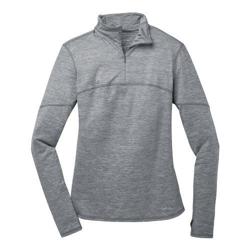 Womens Brooks Essential III Long Sleeve 1/2 Zip Technical Tops - Mako XS