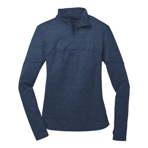 Womens Brooks Essential III Long Sleeve 1/2 Zip Technical Tops - Midnight M