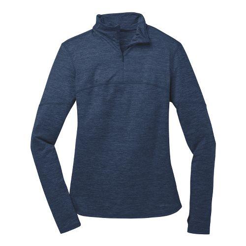 Womens Brooks Essential III Long Sleeve 1/2 Zip Technical Tops - Midnight XL