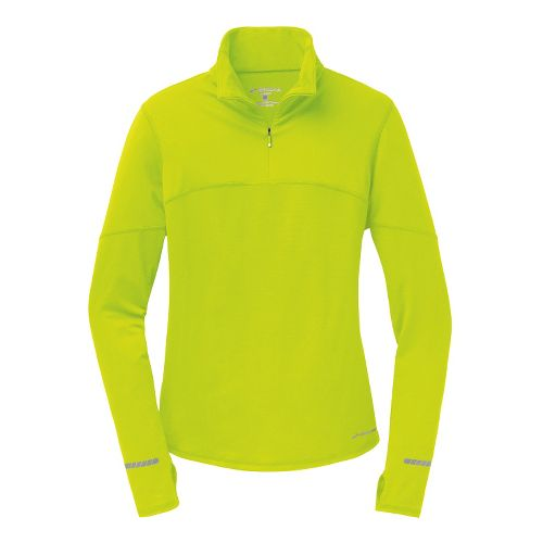 Womens Brooks Essential III Long Sleeve 1/2 Zip Technical Tops - Nightlife XL