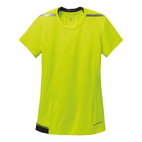 Womens Brooks Nightlife Short Sleeve Technical Tops - Nightlife L