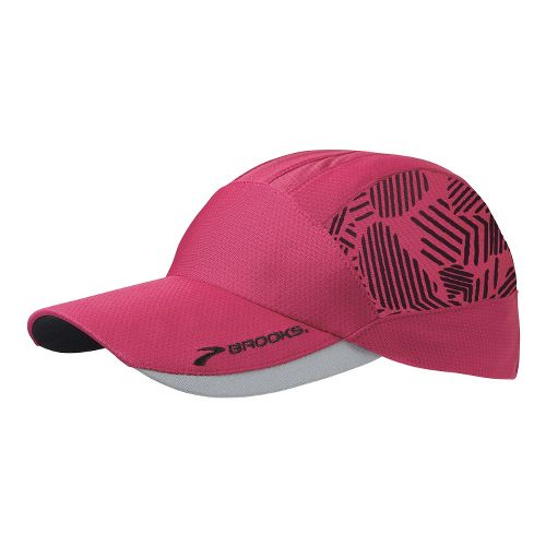 Womens Brooks Printed Mesh Hat Headwear - Jam