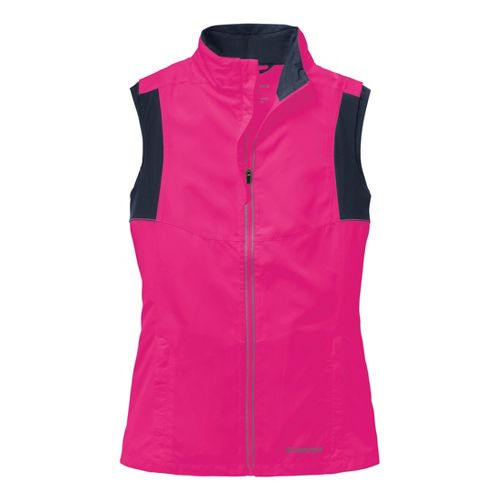 Womens Brooks Nightlife Essential III Running Vests - Brite Pink/Midnight L