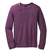 Mens Brooks PureProject Henley Long Sleeve No Zip Technical Tops