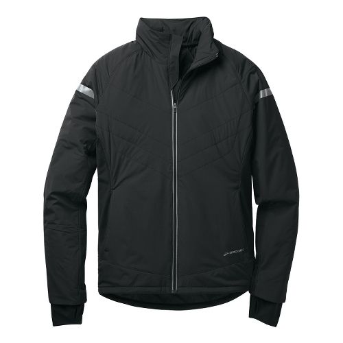 Mens Brooks Adapt Running Jackets - Black L