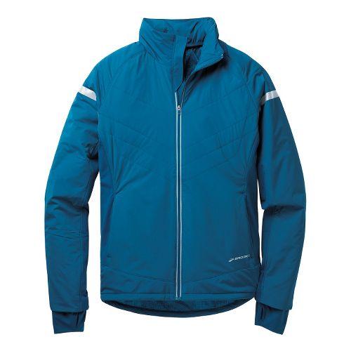 Mens Brooks Adapt Running Jackets - Poseidon XL